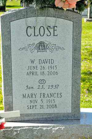 CLOSE, MARY FRANCES - Richland County, Ohio | MARY FRANCES CLOSE - Ohio Gravestone Photos
