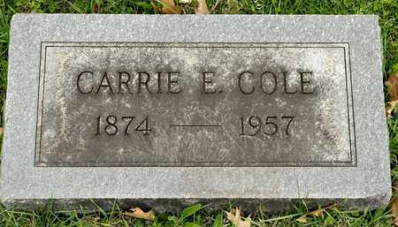 COLE, CARRIE E - Richland County, Ohio | CARRIE E COLE - Ohio Gravestone Photos