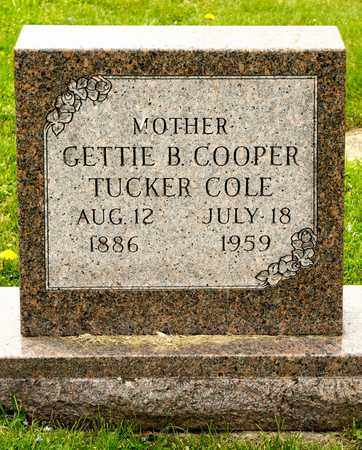COLE, GETTIE B - Richland County, Ohio | GETTIE B COLE - Ohio Gravestone Photos