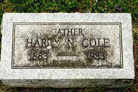 COLE, HARRY N - Richland County, Ohio | HARRY N COLE - Ohio Gravestone Photos