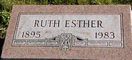 COLE, RUTH ESTHER - Richland County, Ohio | RUTH ESTHER COLE - Ohio Gravestone Photos