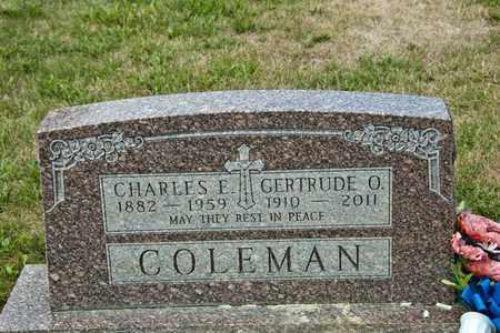 COLEMAN, GERTRUDE O - Richland County, Ohio | GERTRUDE O COLEMAN - Ohio Gravestone Photos