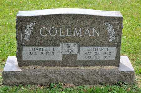 COLEMAN, ESTHER L - Richland County, Ohio | ESTHER L COLEMAN - Ohio Gravestone Photos
