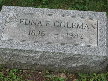 COLEMAN, EDNA F. - Richland County, Ohio | EDNA F. COLEMAN - Ohio Gravestone Photos