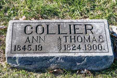 COLLIER, THOMAS - Richland County, Ohio   THOMAS COLLIER - Ohio Gravestone Photos