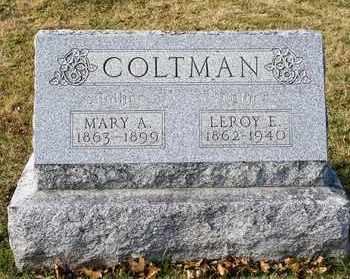 COLTMAN, MARY A - Richland County, Ohio | MARY A COLTMAN - Ohio Gravestone Photos