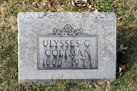 COLTMAN, ULYSSES G - Richland County, Ohio | ULYSSES G COLTMAN - Ohio Gravestone Photos