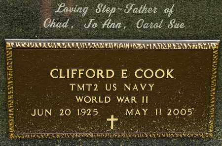 COOK, CLIFFORD E - Richland County, Ohio | CLIFFORD E COOK - Ohio Gravestone Photos