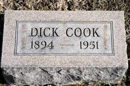 COOK, DICK - Richland County, Ohio | DICK COOK - Ohio Gravestone Photos