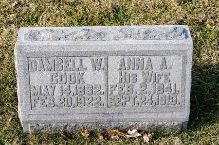 COOK, ANNA A - Richland County, Ohio | ANNA A COOK - Ohio Gravestone Photos