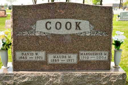 COOK, MAUDE M - Richland County, Ohio | MAUDE M COOK - Ohio Gravestone Photos