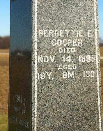 COOPER, BERGETTIE E - Richland County, Ohio | BERGETTIE E COOPER - Ohio Gravestone Photos
