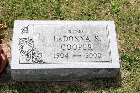 COOPER, LADONNA K - Richland County, Ohio | LADONNA K COOPER - Ohio Gravestone Photos