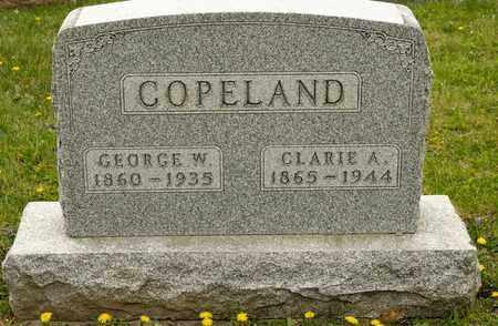 COPELAND, CLARIE A - Richland County, Ohio   CLARIE A COPELAND - Ohio Gravestone Photos