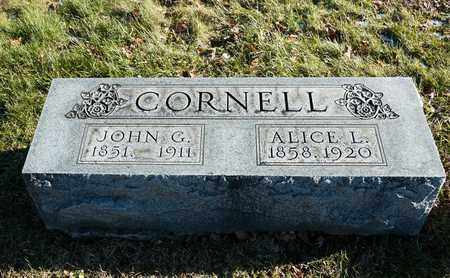 CORNELL, ALICE L - Richland County, Ohio | ALICE L CORNELL - Ohio Gravestone Photos