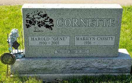 "CORNETTE, HAROLD ""GENE"" - Richland County, Ohio | HAROLD ""GENE"" CORNETTE - Ohio Gravestone Photos"
