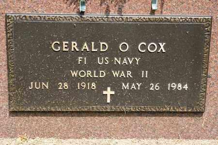 COX, GERALD O - Richland County, Ohio | GERALD O COX - Ohio Gravestone Photos