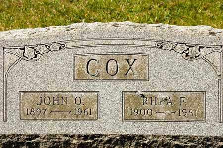 COX, RHEA F - Richland County, Ohio | RHEA F COX - Ohio Gravestone Photos