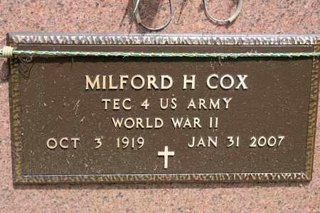 COX, MILFORD H - Richland County, Ohio | MILFORD H COX - Ohio Gravestone Photos