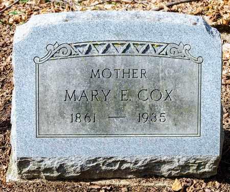 COX, MARY E - Richland County, Ohio | MARY E COX - Ohio Gravestone Photos