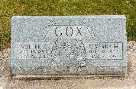 COX, WALTER E - Richland County, Ohio | WALTER E COX - Ohio Gravestone Photos