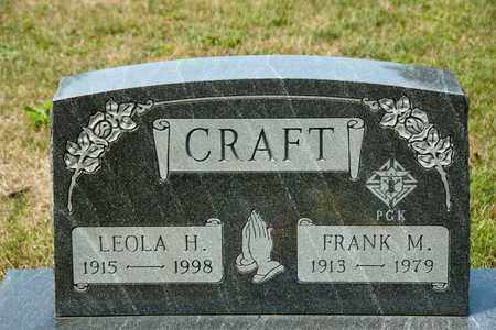 CRAFT, FRANK M - Richland County, Ohio | FRANK M CRAFT - Ohio Gravestone Photos