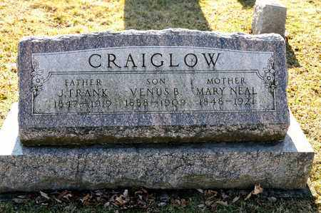 CRAIGLOW, VENUS B - Richland County, Ohio | VENUS B CRAIGLOW - Ohio Gravestone Photos