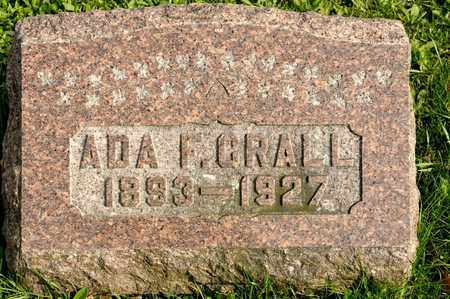 CRALL, ADA F - Richland County, Ohio | ADA F CRALL - Ohio Gravestone Photos