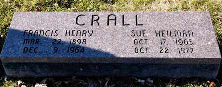 CRALL, FANCIS HENRY - Richland County, Ohio | FANCIS HENRY CRALL - Ohio Gravestone Photos