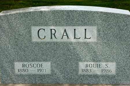 CRALL, ROUIE S - Richland County, Ohio | ROUIE S CRALL - Ohio Gravestone Photos