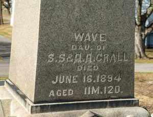 CRALL, WAVE - Richland County, Ohio | WAVE CRALL - Ohio Gravestone Photos