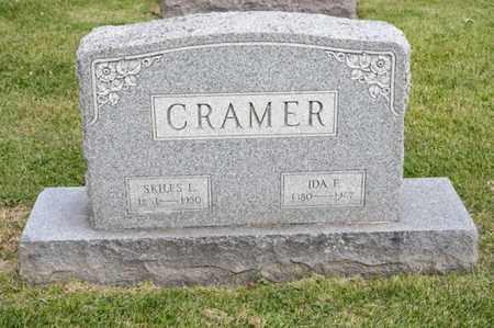CRAMER, IDA F - Richland County, Ohio | IDA F CRAMER - Ohio Gravestone Photos