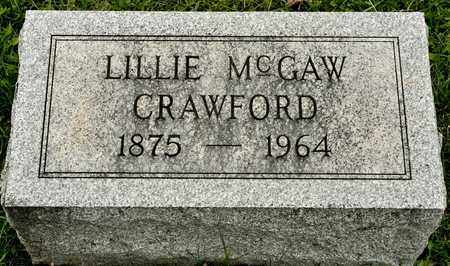 MCGAW CRAWFORD, LILLIE - Richland County, Ohio | LILLIE MCGAW CRAWFORD - Ohio Gravestone Photos