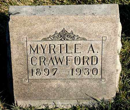 CRAWFORD, MYRTLE A - Richland County, Ohio | MYRTLE A CRAWFORD - Ohio Gravestone Photos
