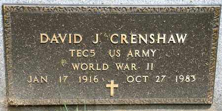 CRENSHAW, DAVID J - Richland County, Ohio | DAVID J CRENSHAW - Ohio Gravestone Photos