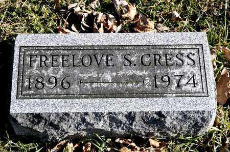 CRESS, FREELOVE S - Richland County, Ohio | FREELOVE S CRESS - Ohio Gravestone Photos