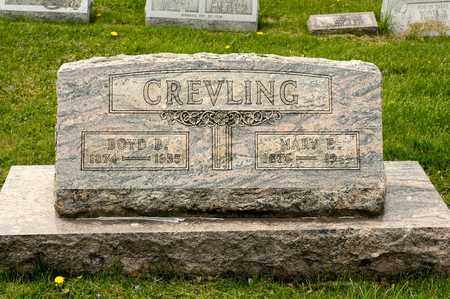 CREVLING, BOYD B - Richland County, Ohio | BOYD B CREVLING - Ohio Gravestone Photos
