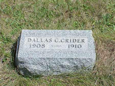 CRIDER, DALLAS G. - Richland County, Ohio | DALLAS G. CRIDER - Ohio Gravestone Photos