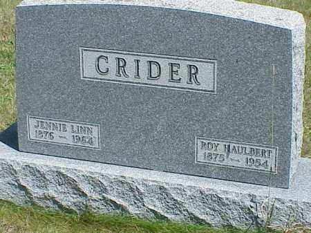 CRIDER, ROY HAULBERT - Richland County, Ohio | ROY HAULBERT CRIDER - Ohio Gravestone Photos
