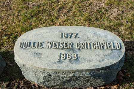 WEISER CRITCHFIELD, DOLLIE - Richland County, Ohio | DOLLIE WEISER CRITCHFIELD - Ohio Gravestone Photos