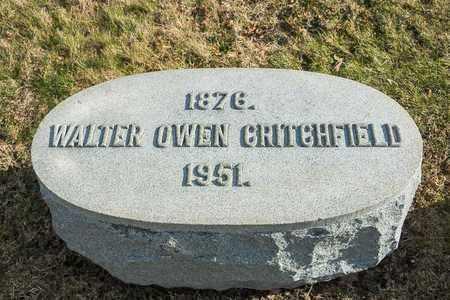 CRITCHFIELD, WALTER OWEN - Richland County, Ohio | WALTER OWEN CRITCHFIELD - Ohio Gravestone Photos