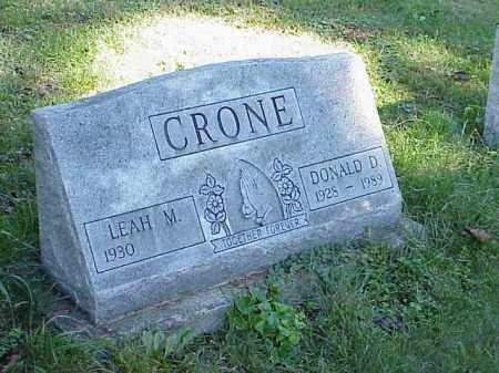 CRONE, LEAH M. - Richland County, Ohio | LEAH M. CRONE - Ohio Gravestone Photos