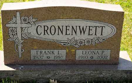 CRONENWETT, FRANK L - Richland County, Ohio | FRANK L CRONENWETT - Ohio Gravestone Photos