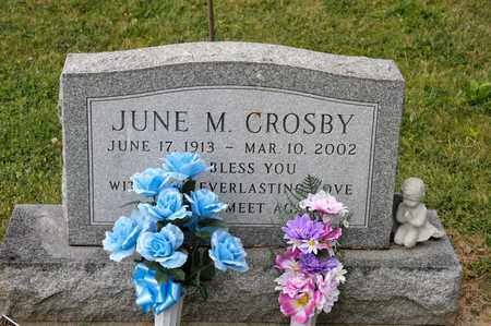 CROSBY, JUNE M - Richland County, Ohio | JUNE M CROSBY - Ohio Gravestone Photos