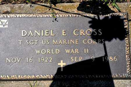 CROSS, DANIEL E - Richland County, Ohio | DANIEL E CROSS - Ohio Gravestone Photos