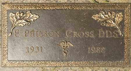 CROSS, F PHILSON - Richland County, Ohio | F PHILSON CROSS - Ohio Gravestone Photos