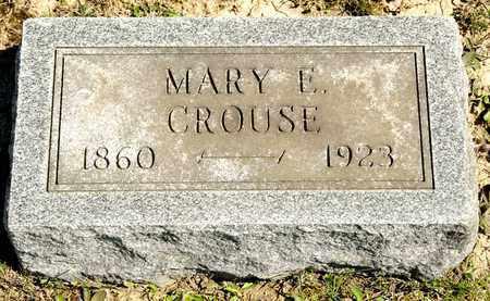 CROUSE, MARY E - Richland County, Ohio | MARY E CROUSE - Ohio Gravestone Photos