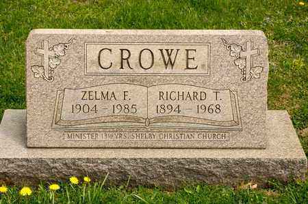 CROWE, ZELMA F - Richland County, Ohio | ZELMA F CROWE - Ohio Gravestone Photos