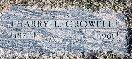 CROWELL, HARRY L - Richland County, Ohio | HARRY L CROWELL - Ohio Gravestone Photos