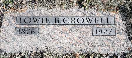 CROWELL, LOWIE B - Richland County, Ohio | LOWIE B CROWELL - Ohio Gravestone Photos